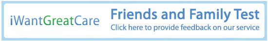 IWANTGREATCARE Friends and Family Test. Click here to provide feedback on our service.